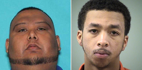 Sheriff's officials say jail employee Luis Saldivar (left) tipped off capital murder suspect Kenton Haynes, told him to run. - BCSO