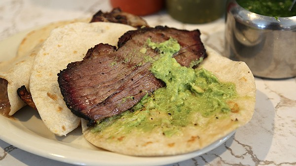 The brisket taco at Garcia's Mexican Food. - BENJAMIN OLIVO / THE TACOIST