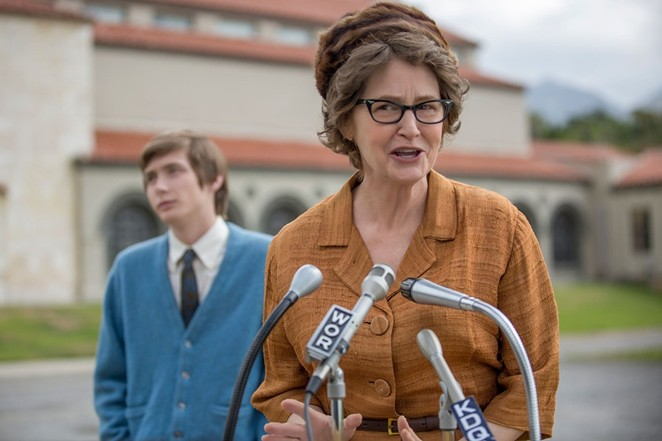 Academy Award-winning actress Melissa Leo stars as atheist activist Madalyn Murray O'Hair in the Netflix drama The Most Hated Woman in America. - NETFLIX