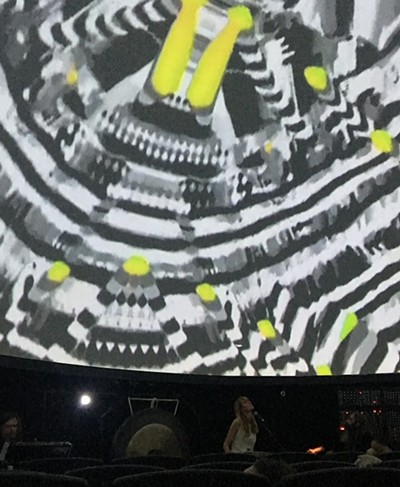 Members of Dallas Acid were as enraptured by the projections as the rest of us.
