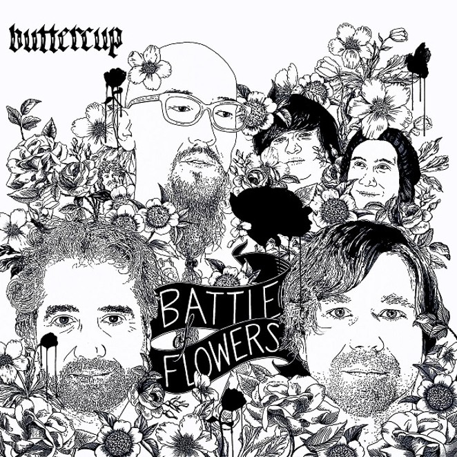 """BATTLE OF FLOWERS"" ALBUM ART BY CHRIS SAUTER"