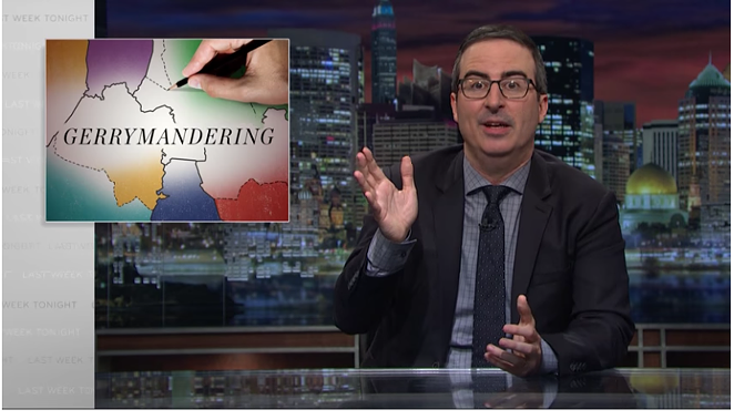 John Oliver delivers a lesson about gerrymandering in the U.S. - SCREENSHOT VIA YOUTUBE.COM
