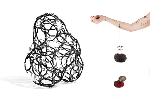 FROM LEFT: WORKS BY SARAH HOLDEN AND RENÉE ZETTLE-STERLING