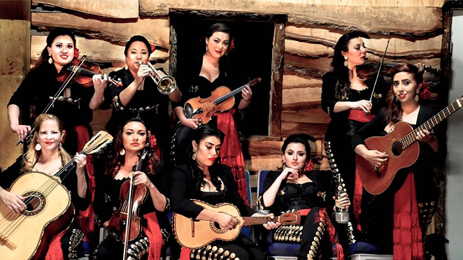 Ten member, all-female Las Coronelas Mariachi band -  FACEBOOK/MARIACHI LAS CORONELAS