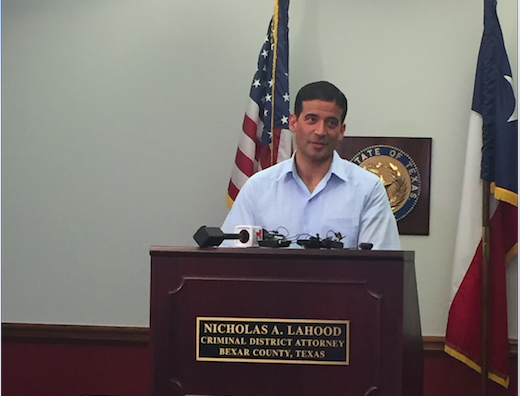 Nico LaHood at a Wednesday press conference - ALEX ZIELINSKI