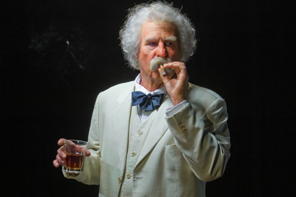 Actor Val Kilmer portrays American writer Mark Twain in the stage production of Citizen Twain. The film version, Cinema Twain, will screen at the LOL Comedy Club May 31 at 8pm with Kilmer in attendance. - COURTESY
