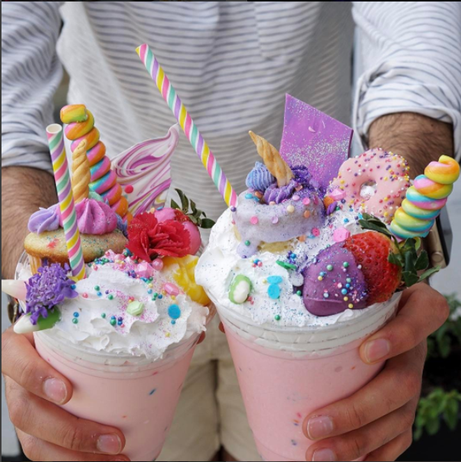 Honeysuckle Tea Time is bringing their eye-catching milkshakes to the party. -  INSTAGRAM/SAFOOD.E