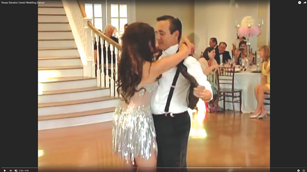 Uresti reportedly threw himself a Godfather-themed wedding in June 2012. - YOUTUBE SCREENSHOT // LAURIE RUSH
