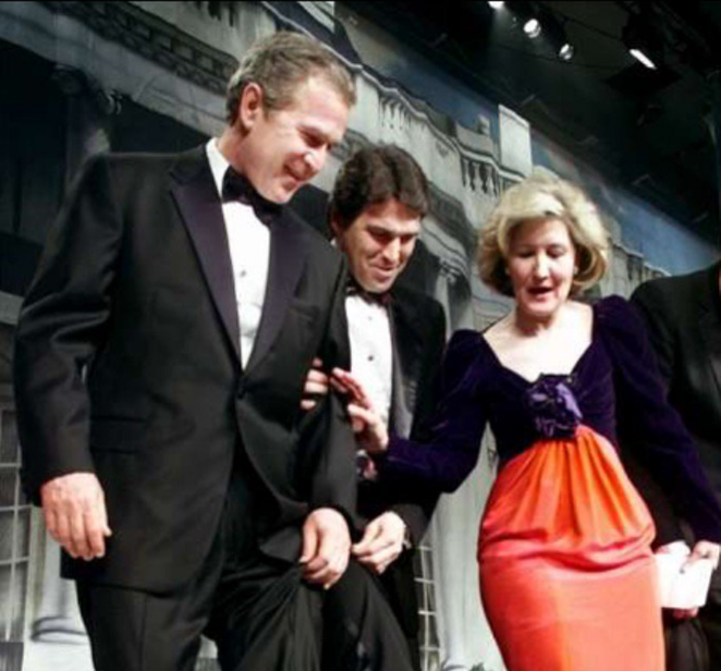 Hutchison alongside George W. Bush and Rick Perry. - TWITTER VIA KAY BAILEY HUTCHISON