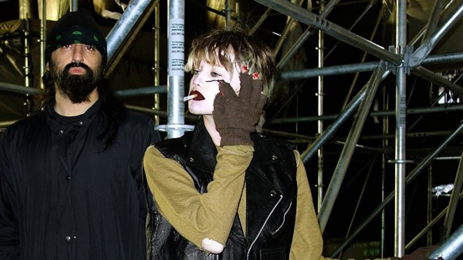 Experimental electronic/dark synth-pop duo Crystal Castles. - COURTESY