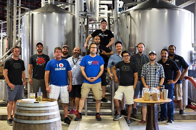 Brewers from Busted Sandal, Freetail and Colorado's Left Hand Brewing Co. are teaming up for a good cause. - MATT BUIKEMA