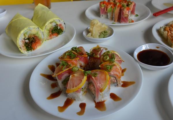 The Tocino Roll from Yellowfish Sushi - JESSICA ELIZARRARAS