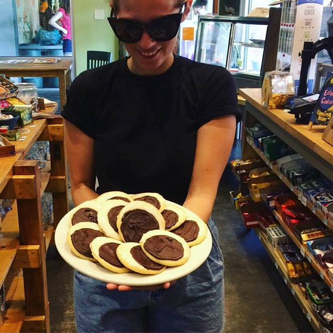 You don't need glasses to eat these eclipse cookies. -  FACEBOOK/BLUE STAR PROVISIONS