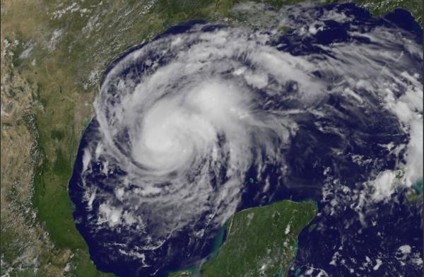Ol' Hurricane Harv hanging in the Gulf. - NASA VIA TWITTER