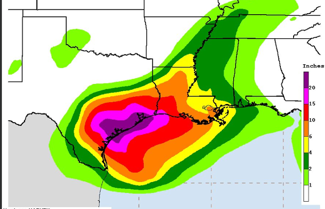 Hurricane Harv, in living color. - NOAA