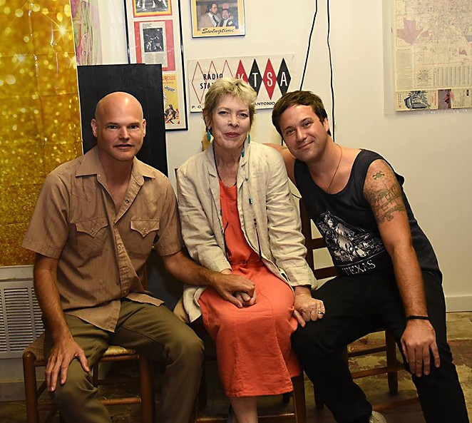 PAUL MINOR AND KEVIN CURTIN (R) WITH MARGARET AT TEX POP IN SAN ANTONIO ON JUNE 11