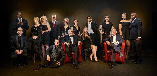 THE CAST OF THE CLASSIC THEATRE'S PRODUCTION OF YOU CAN'T TAKE IT WITH YOU PHOTOGRAPHED BY SIGGI RAGNAR