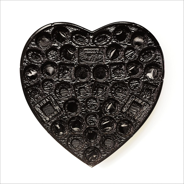 CHUCK RAMIREZ, CANDY TRAY SERIES, BLACK HEART, 2008
