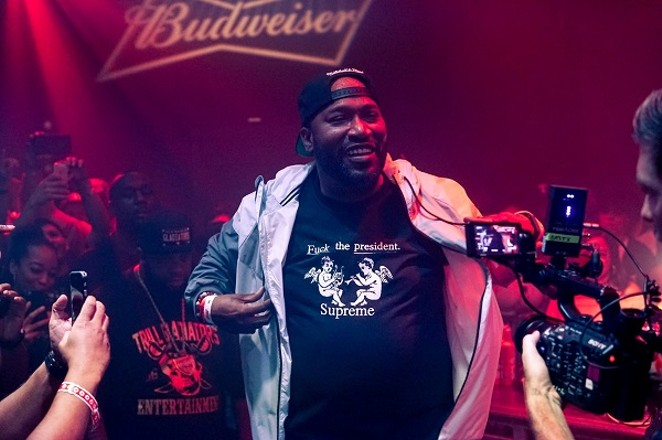 Bun B's all smiles, wearing the shirt with the most truth. - MARCO TORRES/HOUSTON PRESS