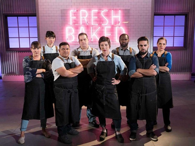 Susana Mijares (far right) is competing against seven other chefs from around the country on the show. - FOOD NETWORK