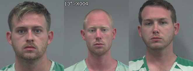 L-R: Colton Fears, Tyler Tenbrink, William Fears - PHOTO VIA GAINESVILLE POLICE DEPT.