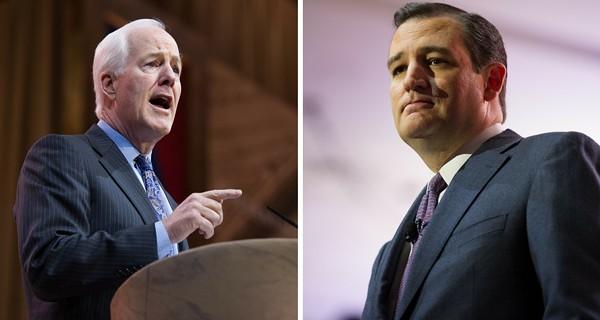 Senator John Cornyn (left) and Senator Ted Cruz (right) - SHUTTERSTOCK