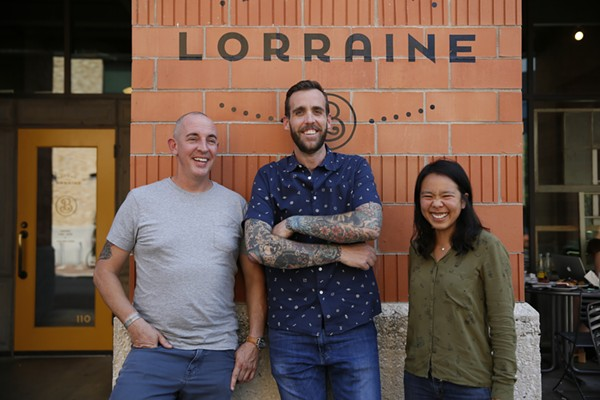 L-R Charlie Biedenharn, Jeremy Mandrell, Anne Ng of Bakery Lorraine - COURTESY