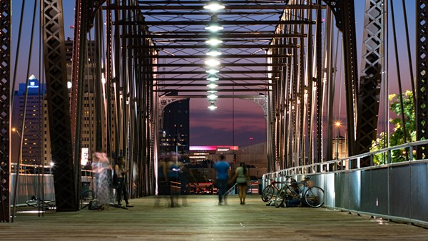 Hays Street Bridge at night - FLICKR CREATIVE COMMONS VIA NAN PALMERO