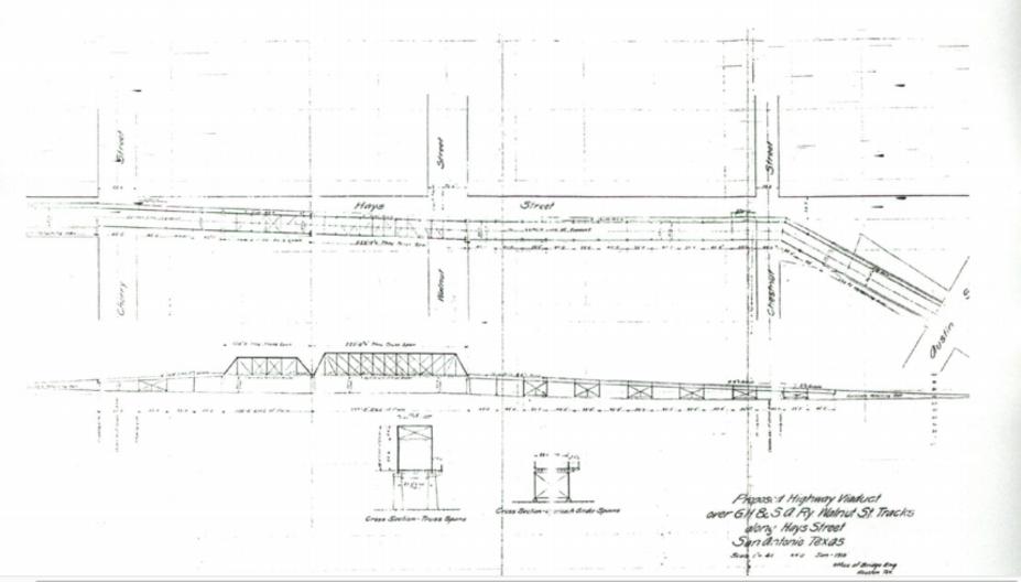 Original blueprint of Hays Street Bridge - U.S. DEPTARTMENT OF THE INTERIOR