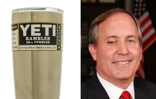 """YETI """"Rambler"""", Texas Attorney General Ken Paxton - SHUTTERSTOCK"""