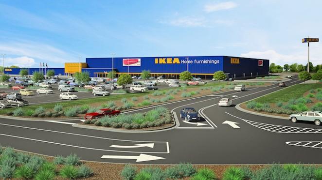 Rendering of Live Oak location - COURTESY OF IKEA
