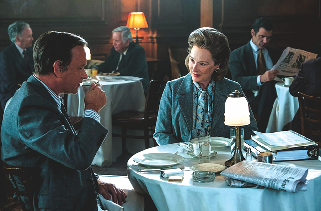 Tom Hanks as Executive Editor Ben Bradlee and Meryl Streep as Publisher Katharine Graham - TWENTIETH CENTURY FOX