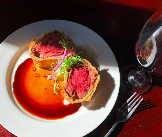 Beef Wellington from Tribeca 212 - COURTESY OF TRIBECA 212