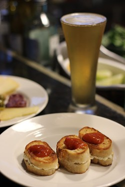 Goat Cheese Sandwiches ($6) and beer ($2.50) - ERIN WINCH