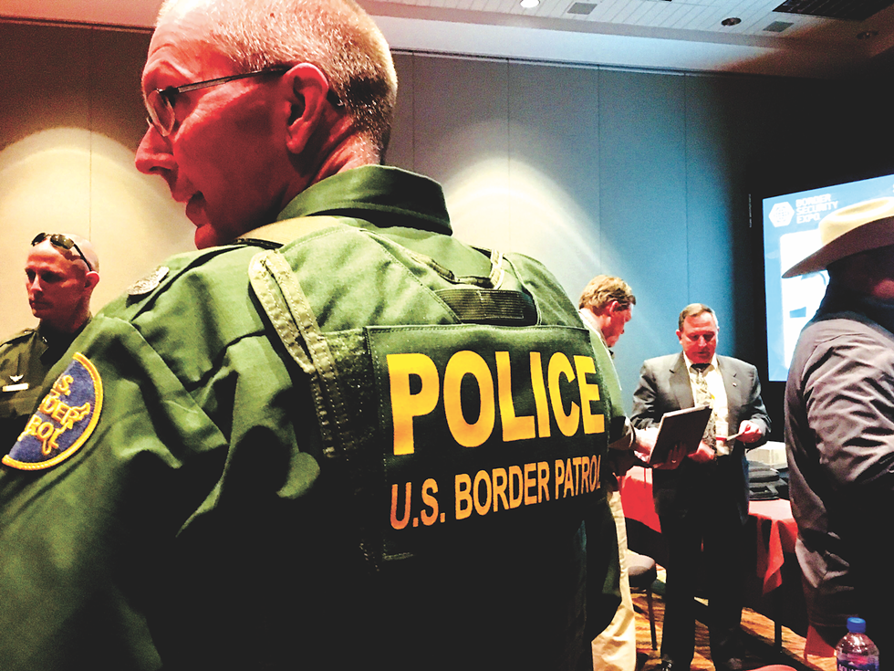 """The """"POLICE"""" lettering is a recent addition to the Border Patrol uniform. - DEBBIE NATHAN"""