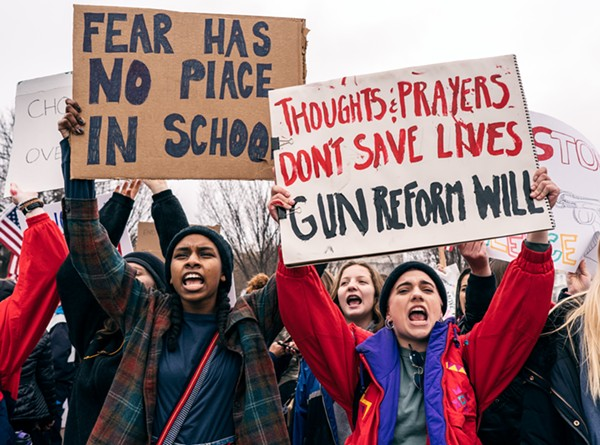 Teens protesting after the Parkland shooting in Washington, D.C. - WIKIMEDIA COMMONS
