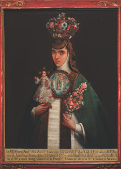 """Artist unknown, New Spain, Sister María Antonia of the Immaculate Conception (""""San Antonio 1718: Art from Viceregal Mexico"""")"""