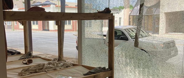 Vandal smashes Artpace window, affecting exhibition by San Antonio artist José Villalobos