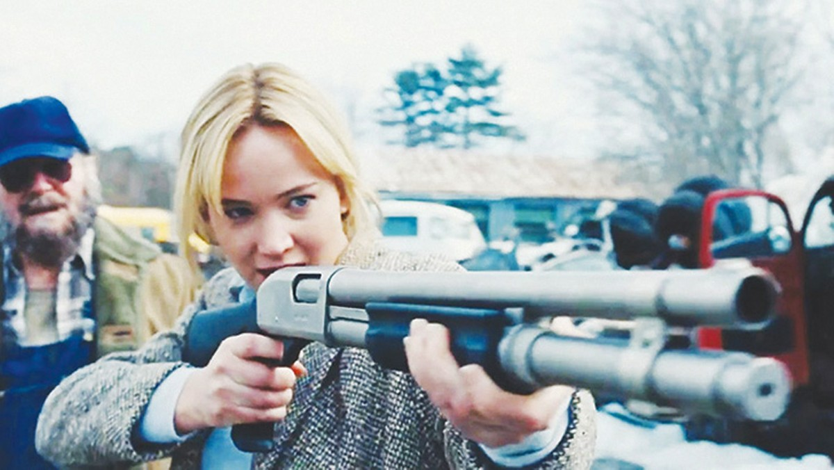 Jennifer Lawrence takes aim in Joy.