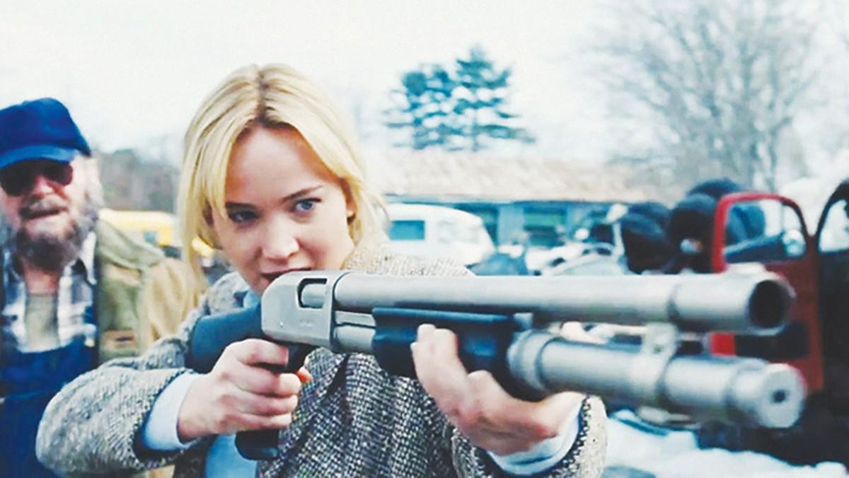 Jennifer Lawrence takes aim in Joy.