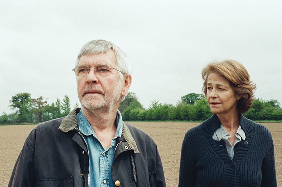 Geoff (Tom Courtenay) and Kate (Charlotte Rampling) during a rare moment of relative tranquility
