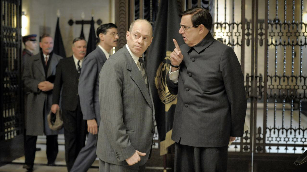 Steve Buscemi, left, as Nikita Khrushchev and Jeffrey Tambor as Georgy Malenkov - IFC FILMS