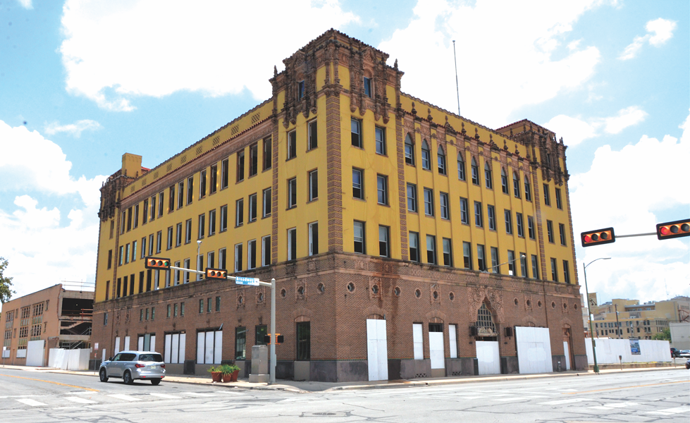 The San Antonio Light building once housed one of the city's daily newspapers. Now it's being gutted to make way for a tech firm. - CARLOS AGUILAR