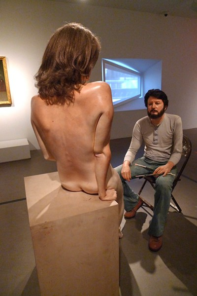 """Self Portrait with Sculpture"" - RUBEN C. CORDOVA"
