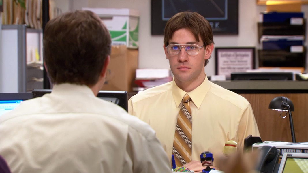 Perhaps one of Jim's best pranks. - FACEBOOK / THE OFFICE