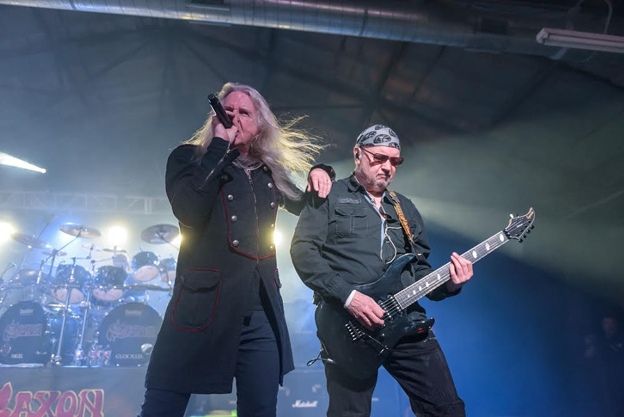 Singer Biff Byford and guitarist Paul Quinn are the two original members of British metal band Saxon. - JAIME MONZON