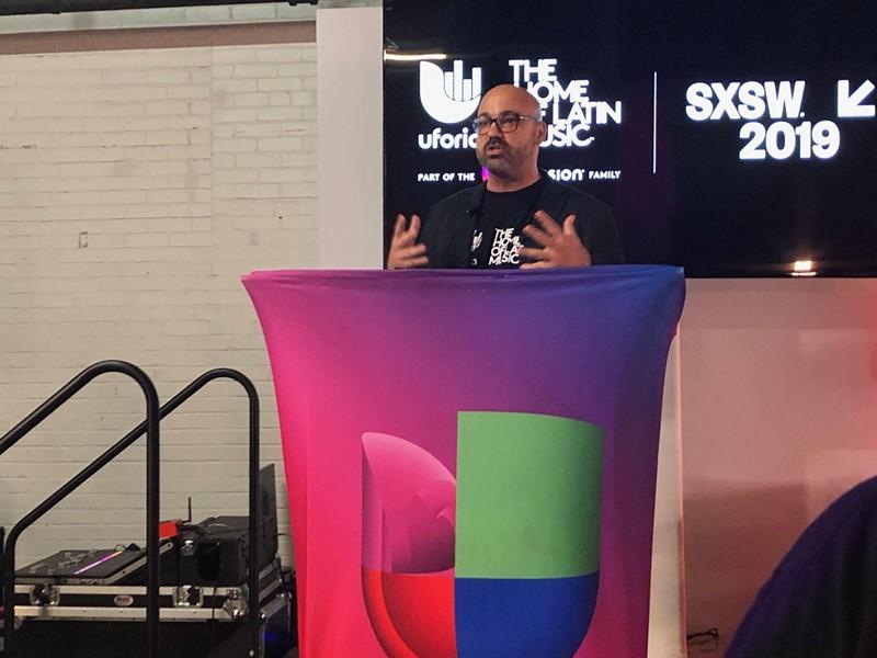 Univision Radio president Jesus Lara discusses the media group's new Latin music app. - LEA THOMPSON