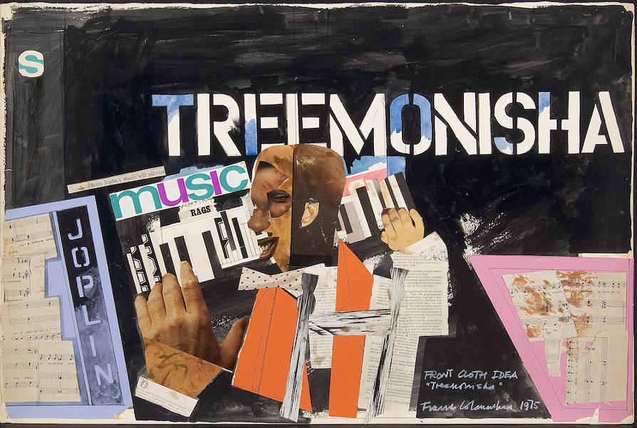 FRANCO COLAVECCHIA, FRONT CLOTH DESIGN FOR TREEMONISHA, 1975