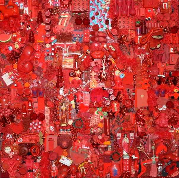 """Linda Pace's poppy Red Project welcomes visitors into Ruby City's inaugural exhibition """"Waking Dream."""" - BRYAN RINDFUSS"""