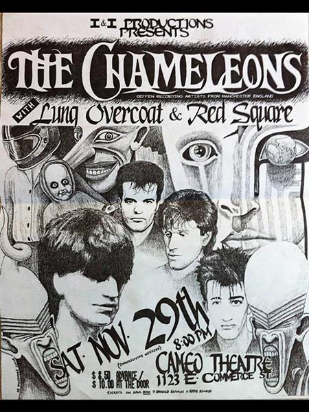 original 1986 flyer for Chameleons/Lung show - COURTESY CHRIS SMART